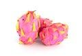 Dragon fruit isolated on white background pitaya fruit Royalty Free Stock Images