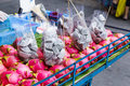 Dragon fruit on market stand Stock Photography