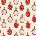 Dragon fruit pattern Royalty Free Stock Photo