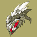 Dragon head colored picture of Royalty Free Stock Photo