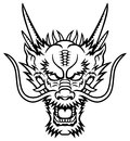 Dragon head a logo this is vector illustration ideal for a mascot and tattoo or t shirt graphic Stock Image