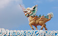 Dragon horse statue with cloud and blue sky Stock Photography