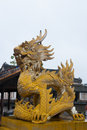 Dragon in hue citadel ornament vietnam Stock Photos