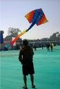Dragon kite flying at Ahmedabad Royalty Free Stock Photo