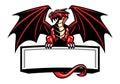 Dragon mascot spread the wings