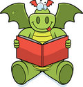 Dragon Reading Royalty Free Stock Images