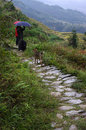 Dragon ridge terraces terrace kilometers away from longsheng county kilometers from guilin city china the scenic spot with a total Stock Photography