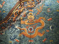 Dragon robe embroidered details china Royalty Free Stock Photos