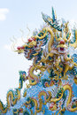 Dragon on the roof chinese temple Royalty Free Stock Images