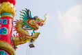 Dragon on the roof in the temple Chinese architecture Royalty Free Stock Photo