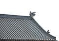 Dragon sculpture on roof Stock Images