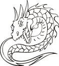 Dragon serpent Royalty Free Stock Photography