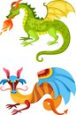 Dragon set Royalty Free Stock Images