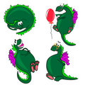 Dragon.set of characters.  illustration Stock Images