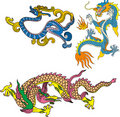 Dragon set sixteen Royalty Free Stock Image