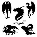 Dragon set vector Royalty Free Stock Photo