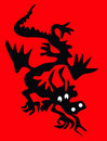 Dragon silhouette Stock Photography