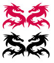 Dragon silhouette Royalty Free Stock Photos