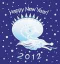 Dragon Snow. 2012 New Year (vector) Royalty Free Stock Image