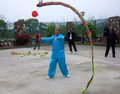 Dragon Spinning Performance in China Royalty Free Stock Photo