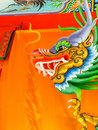Dragon statue in chinese temple Royalty Free Stock Photography