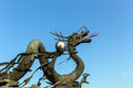 Dragon statue with clear blue sky Royalty Free Stock Photo