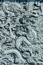 Dragon Stone Carving  Royalty Free Stock Photo