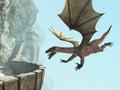 Dragon, Stone Medieval Castle Balcony