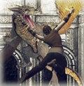 Dragon strike Fotografering för Bildbyråer