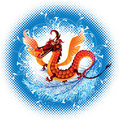 Dragon_ symbol_ 2012 Stock Photography
