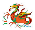 Dragon is symbol of calendar 2012 Stock Images