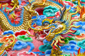 The dragon is symbol of power generality any kind of art decorated in buddhist church temple pavilion temple hall monk s house Royalty Free Stock Image