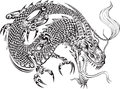Dragon Tattoo Vector Royalty Free Stock Photo