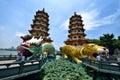 Dragon and Tiger Pagodas Royalty Free Stock Photo