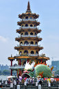 Dragon and Tiger Pagodas Royalty Free Stock Photo