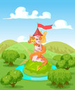 Dragon tower twists around the Stock Image