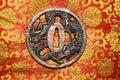 Dragon Tsuba Royalty Free Stock Photo