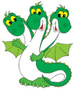 Dragon (vector clip-art) Stock Images