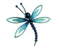Dragonfly brooch in the shape of a Royalty Free Stock Photo