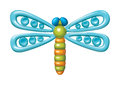 Dragonfly illustration plasticine figurines vector of in a childrens style Stock Photography