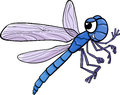 Dragonfly insect cartoon illustration of funny character Royalty Free Stock Image