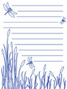Dragonfly notepad Stock Photos