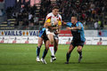 Dragons de Catalans contre des taureaux de Bradford Images stock