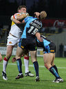 Dragons de Catalans contre des taureaux de Bradford Photo libre de droits