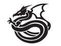 Dragons posing illustration