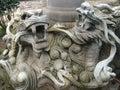 Dragons of stone korean Royalty Free Stock Photography