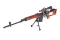 Dragunov sniper rifle with optic sight Stock Image
