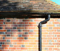 Drain pipe, tiles and bricks Royalty Free Stock Image