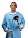 Drain surgeon a medical professional is seen with a plumbing tool in his hand Royalty Free Stock Photography