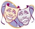 Drama Masks Royalty Free Stock Photo